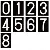 ロードマーキング ナンバーL (0〜8) 6、9は兼用