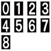 ロードマーキング ナンバーS (0〜8) 6、9は兼用