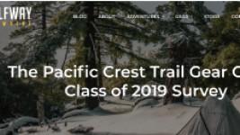 米国The Pacific Crest Trail Gear Guide:Class of 2019 Surveyで<br>ウインドマスターがベストギアとして認定されました。
